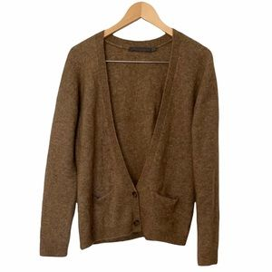 Feel the Piece Caramel Tan Soft Mohair Wool Blend Fuzzy Cardigan